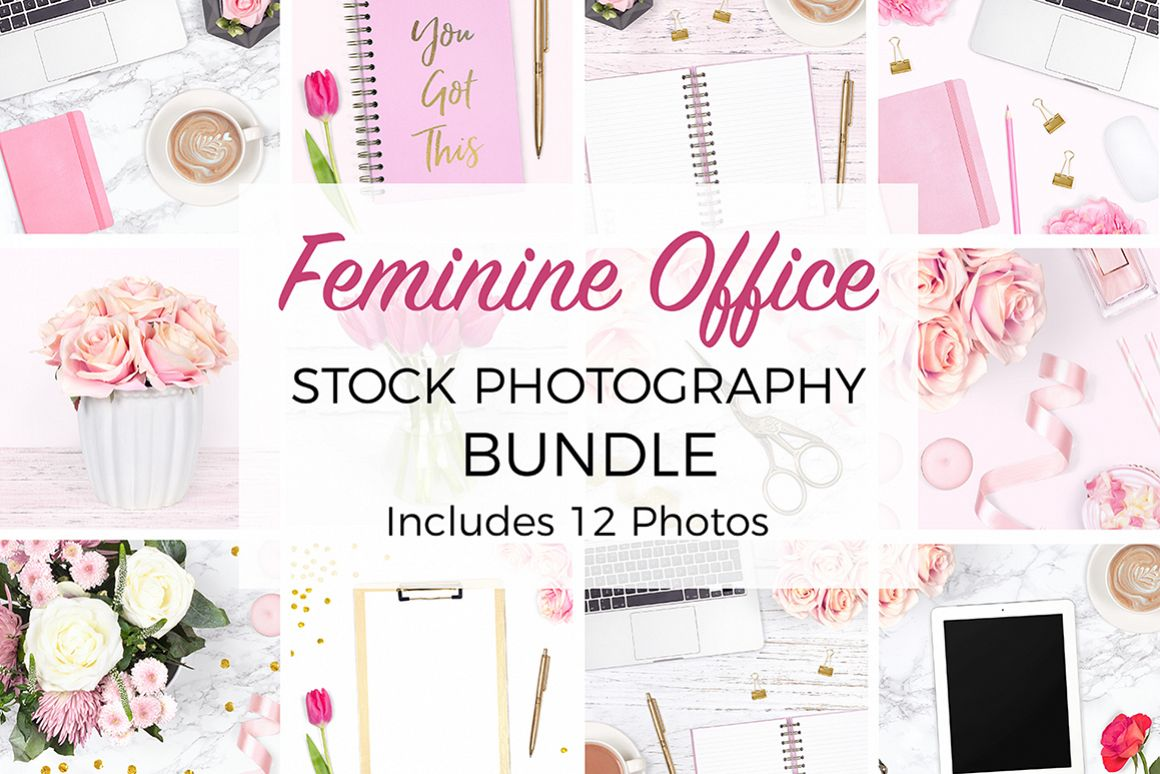 Feminine Desk Styled Stock Photo Bundle example image 1