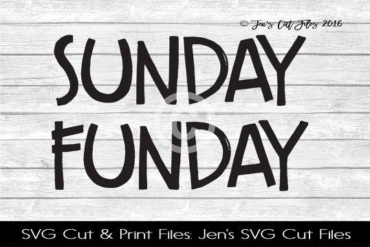 Sunday Funday SVG Cut File example image