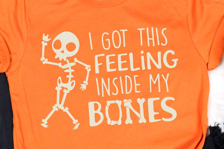 I Got This Feeling Inside My Bones Svg, Halloween Skeleton example image 1