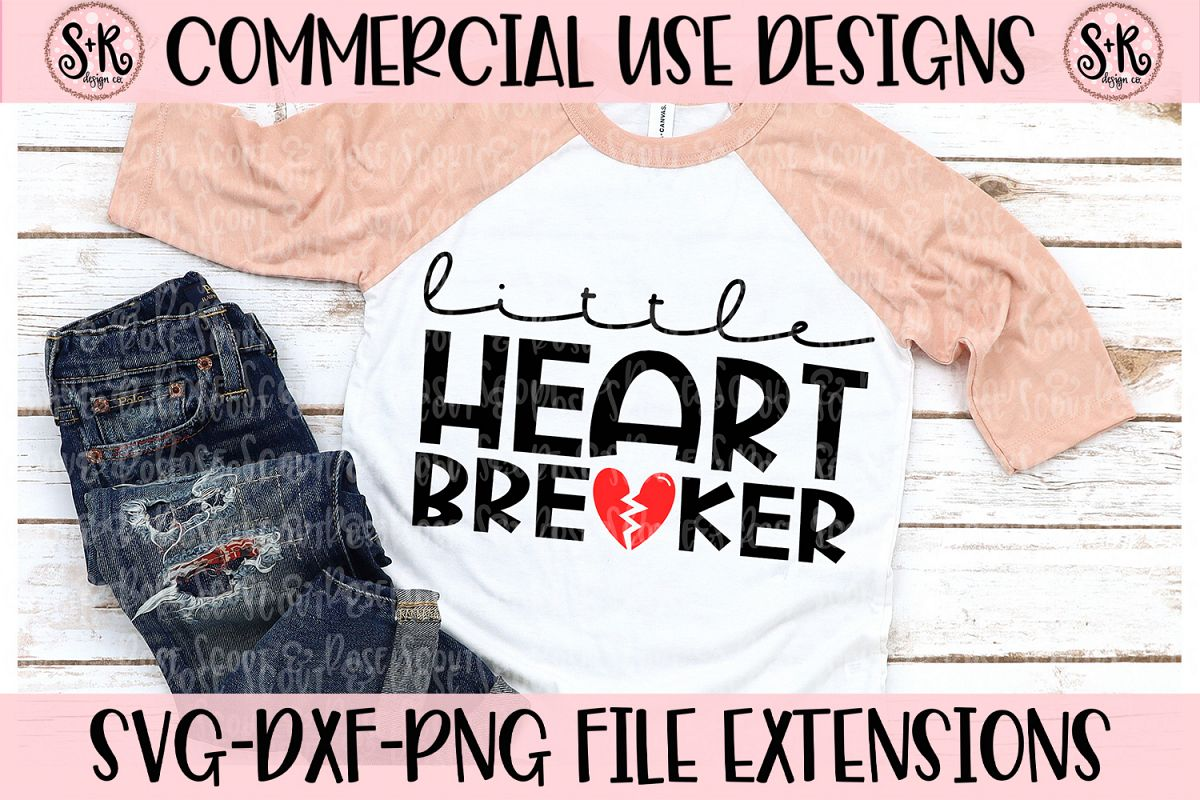 Little Heartbreaker SVG DXF PNG example image 1