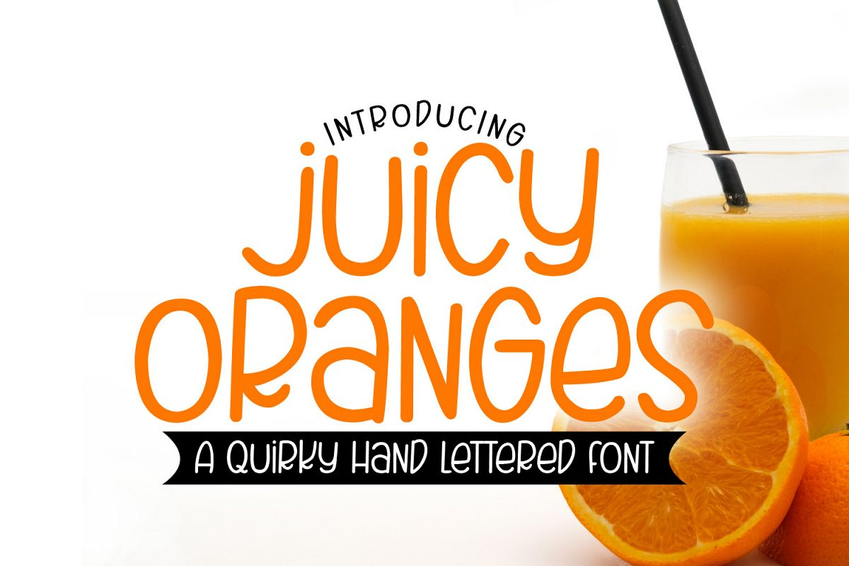 Juicy Oranges - A Smooth Quirky Hand Lettered Font by DWS example image 1