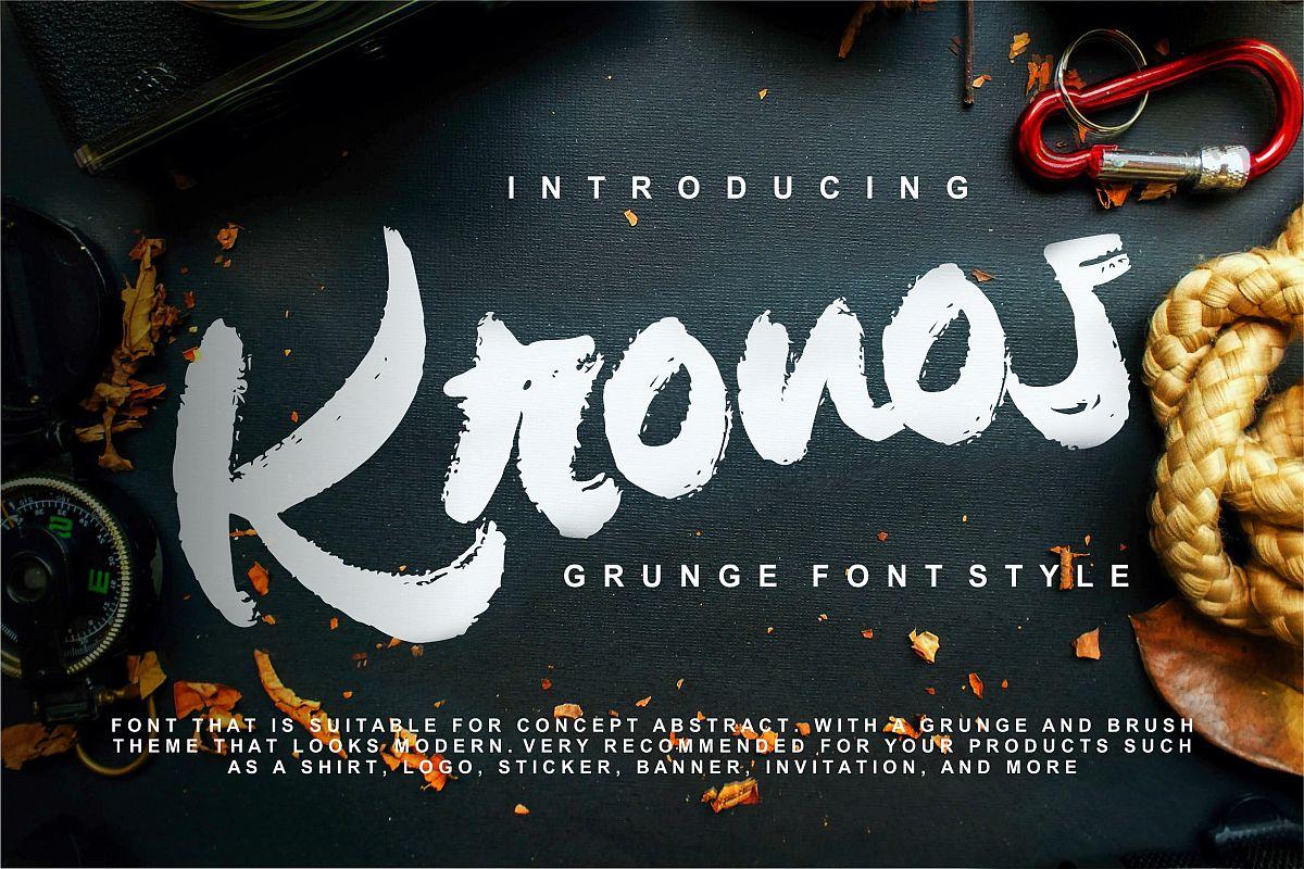 Kronos | Grunge Brush Typeface example image 1