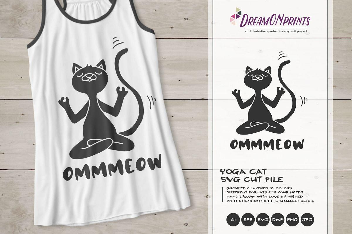 Yoga Cat SVG | Meditating Cat SVG Cut Files example image 1