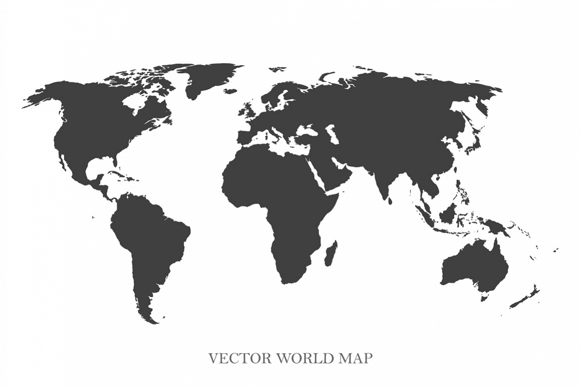 Vector world map example image 1
