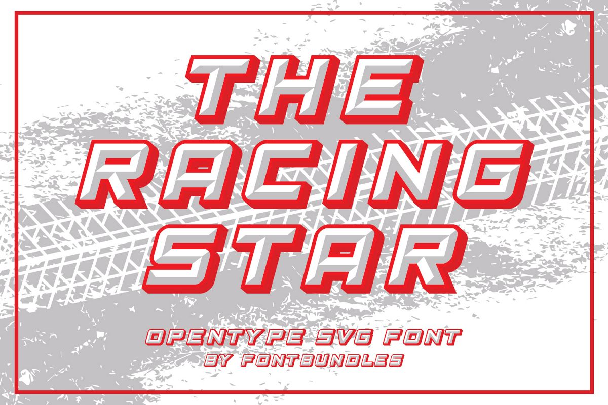 The Racing Star - SVG Font example image 1