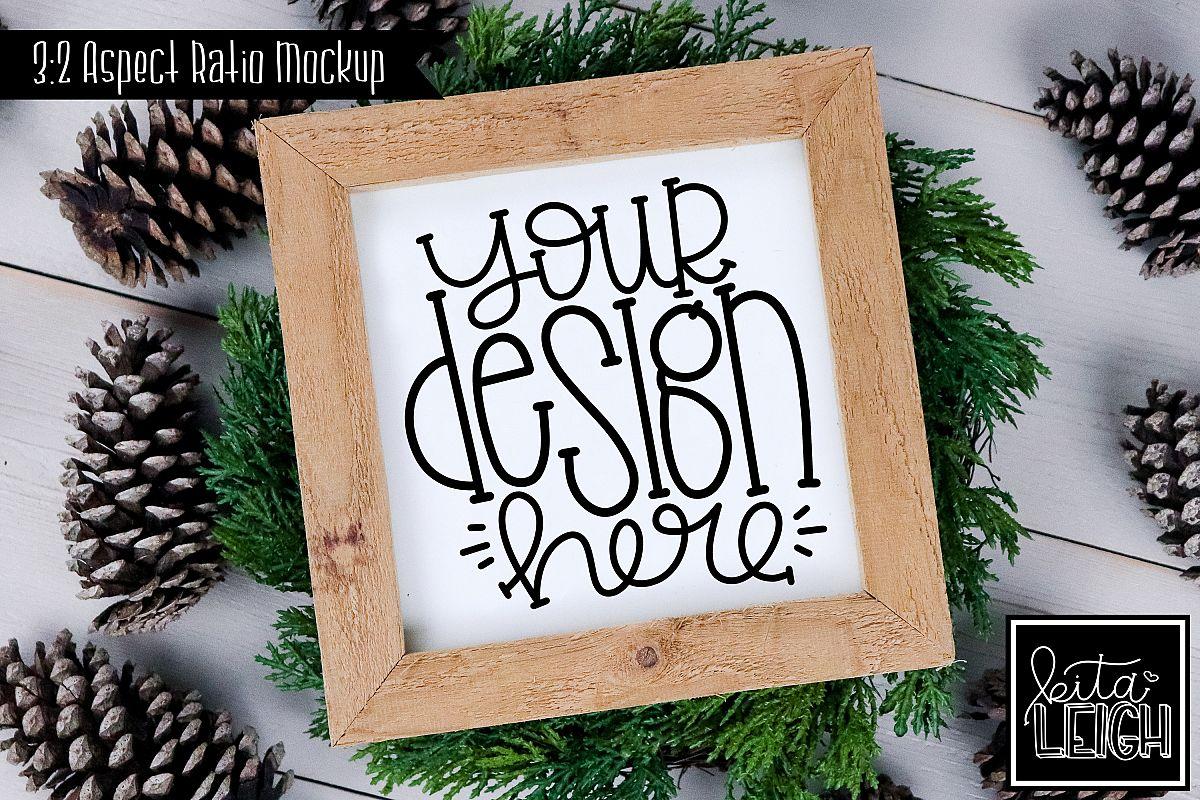 Square Sign Fall and Christmas Mockup example image 1