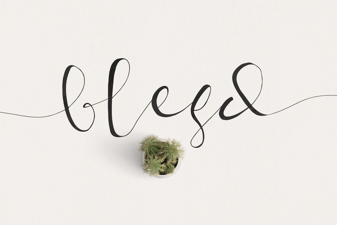 Blesd Typeface example image 1