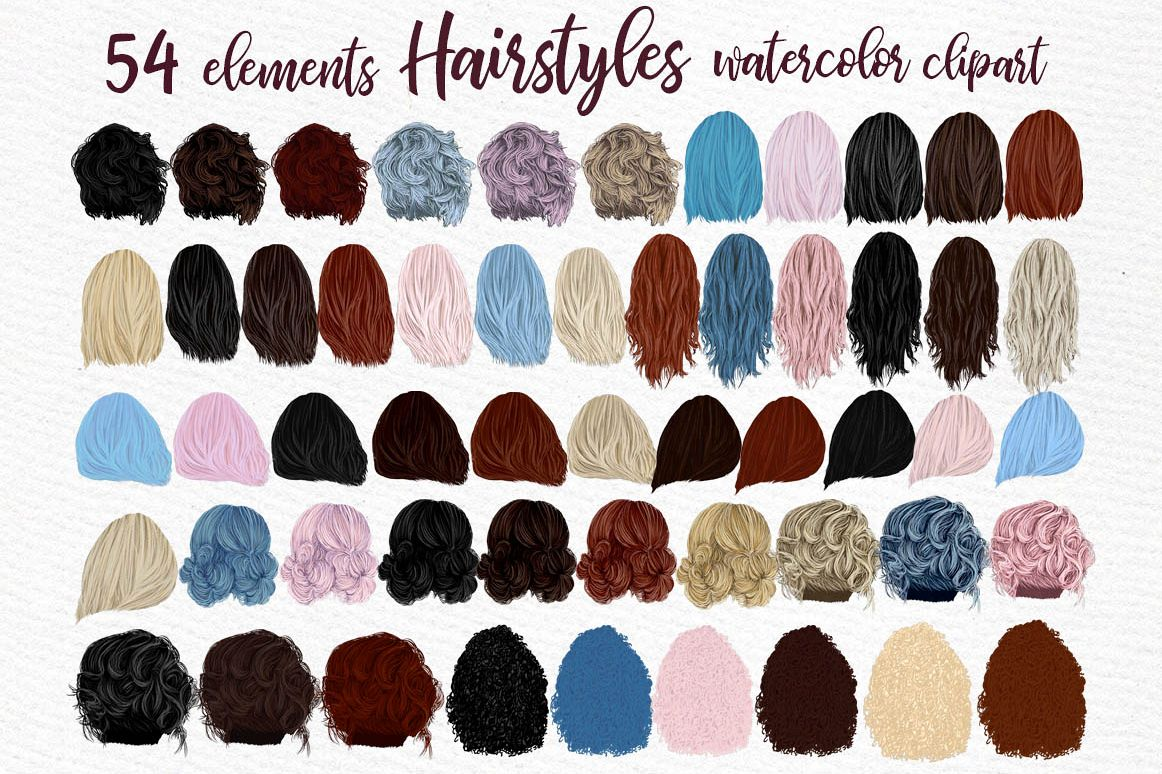 Hairstyles clipart, Girls Hairstyles,Custom Girls Hairstyle example image 1