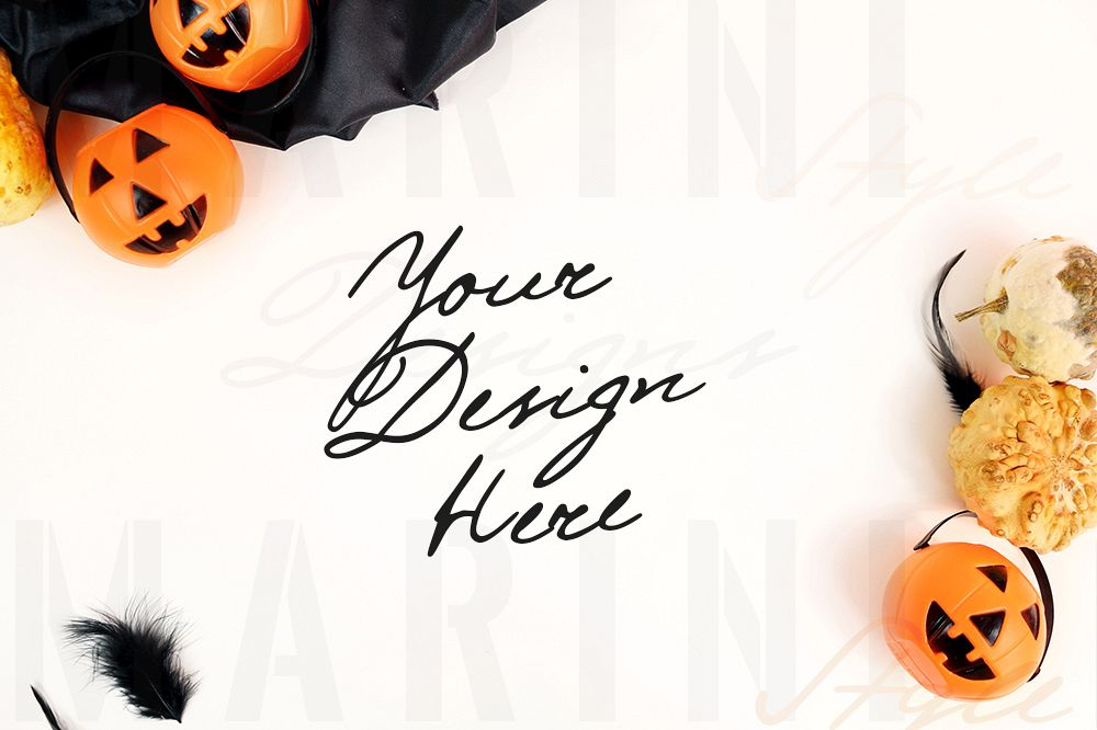 Halloween Photo Mockup Fall Halloween Background 1057