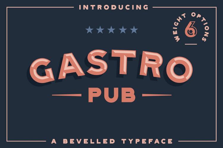 Gastro Pub - Type Family - Font Family example image 1