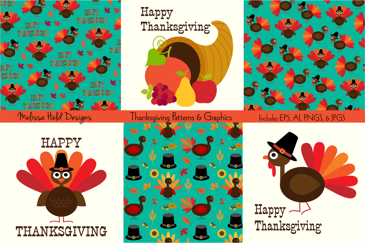 Thanksgiving Patterns & Graphics example image 1