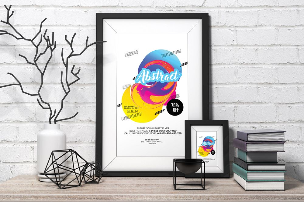 Abstract Flyer Template example image 1