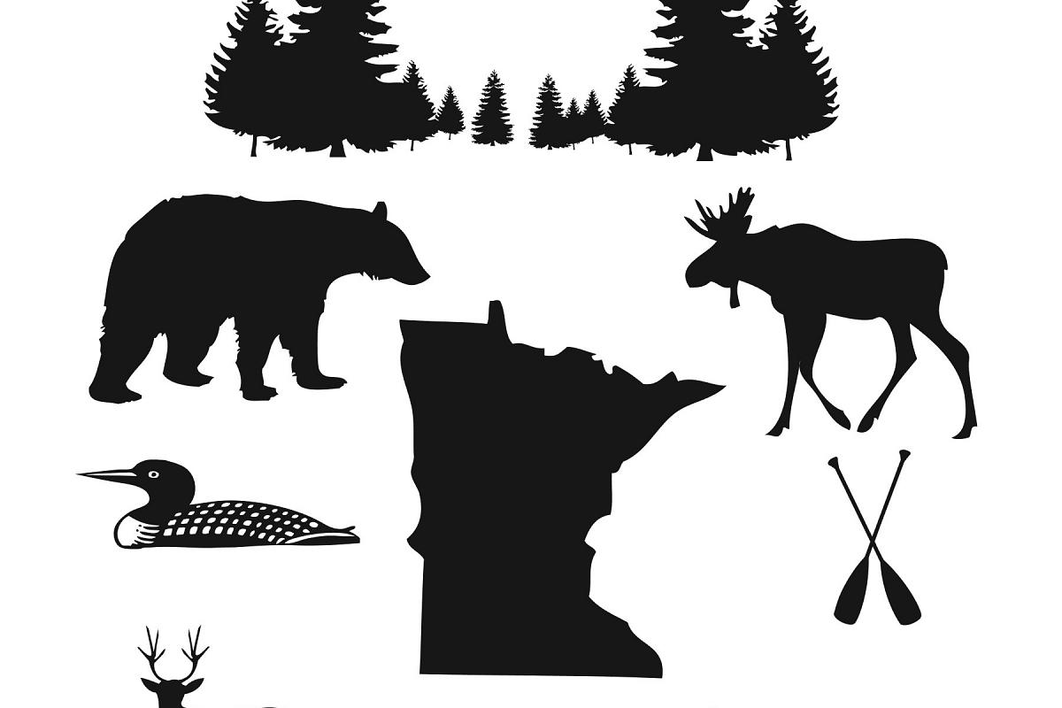 Minnesota Wilderness clip art example image 1