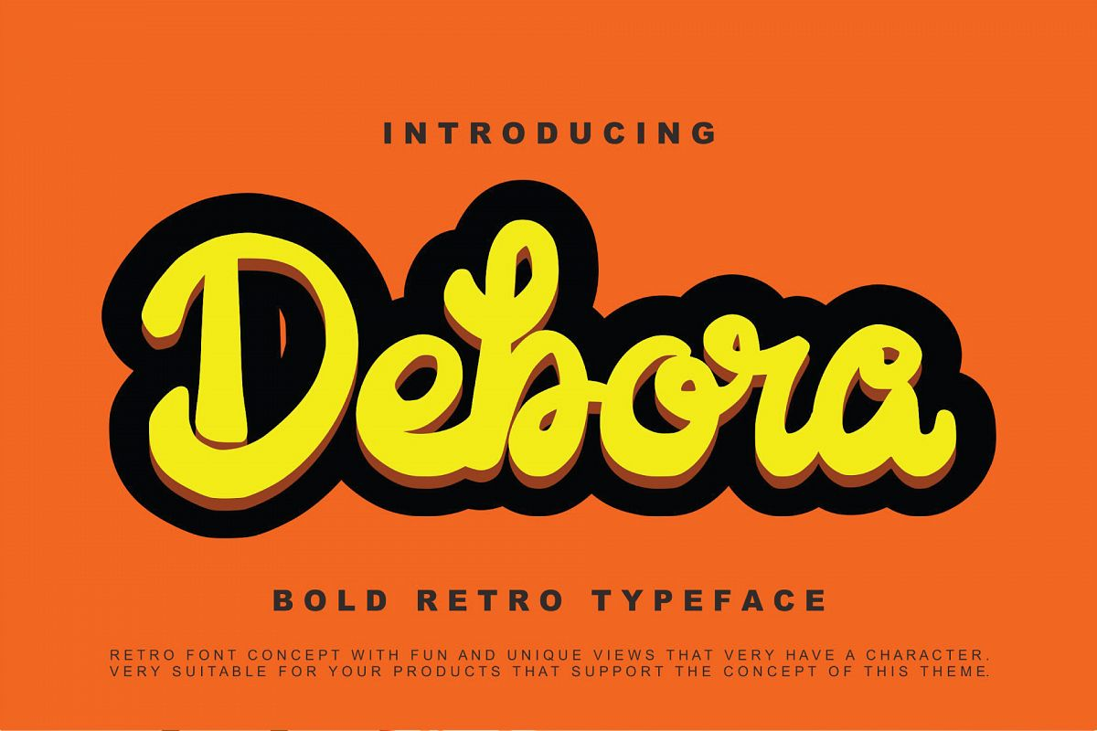 Debora - Retro Handwritten Script example image 1