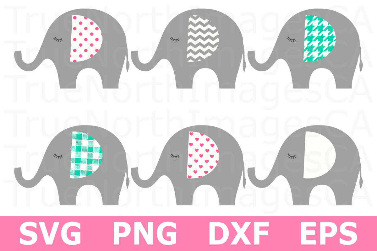 Elephant Bundle - An Animal SVG Cut File example image 1