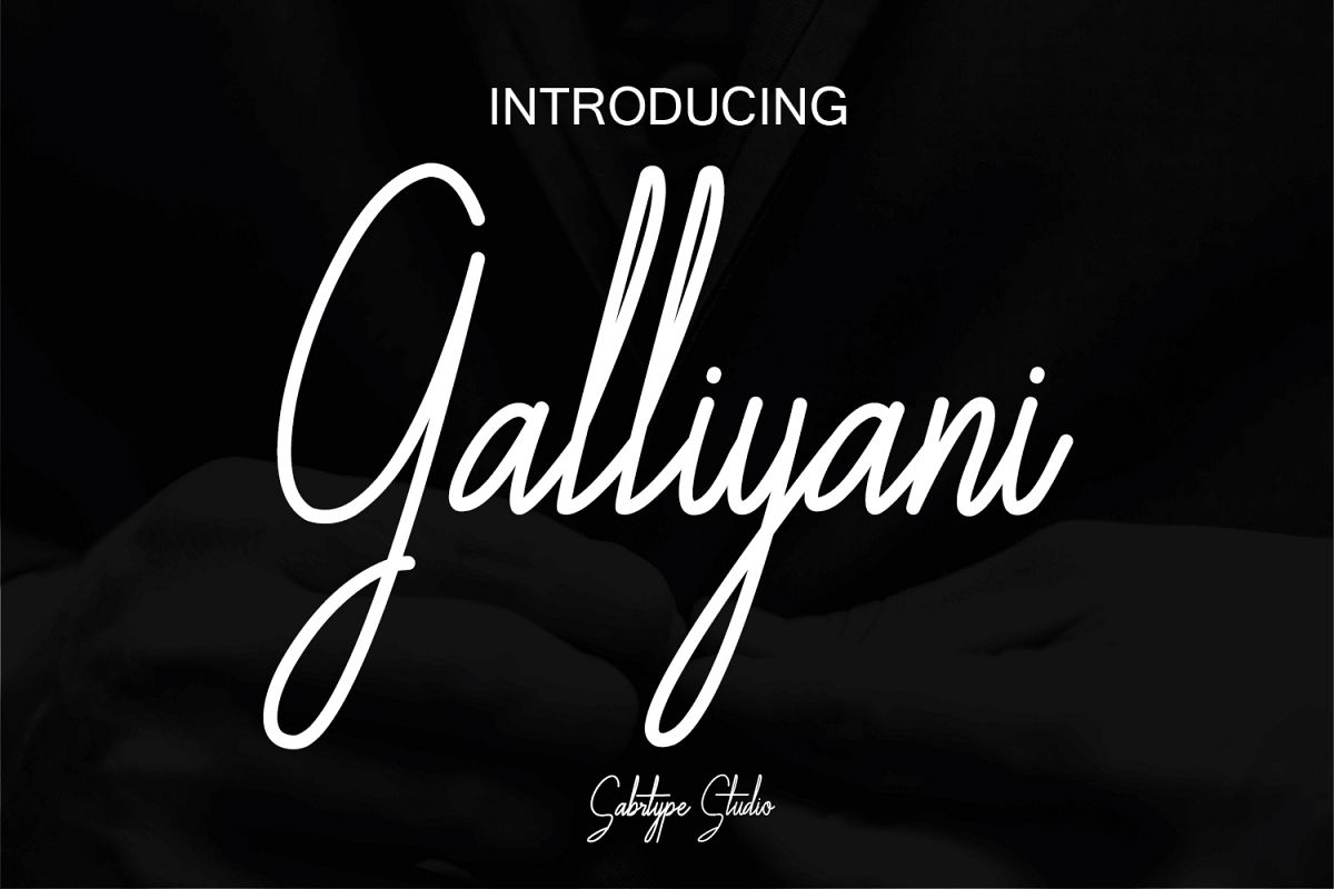 Galliyani Handwritten Font Style example image 1