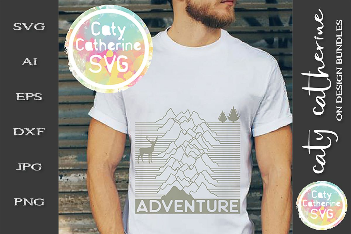 Adventure SVG Outdoors Nature Mountains example image 1