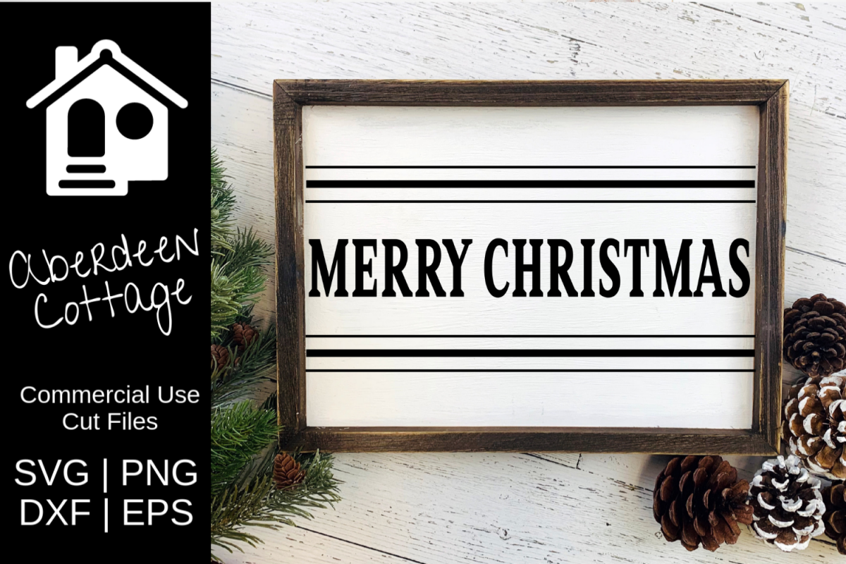 Merry Christmas 7 SVG| PNG | EPS | DXF example image 1