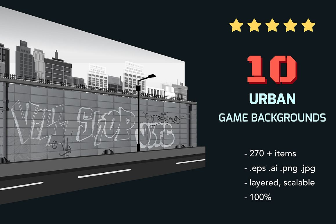 10 Urban Game Backgrounds example image 1