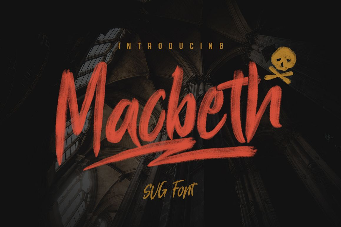 Macbeth Typeface - SVG Font example image 1