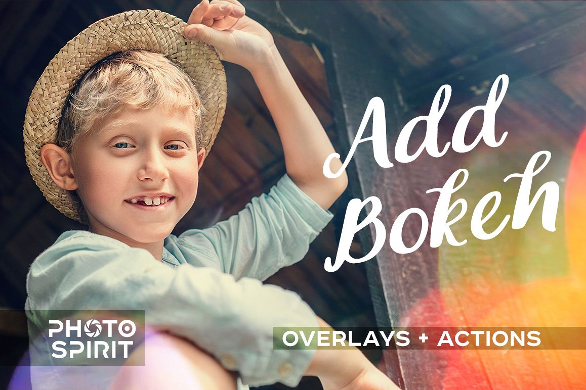 Add Bokeh Overlay Photoshop Actions example image 1