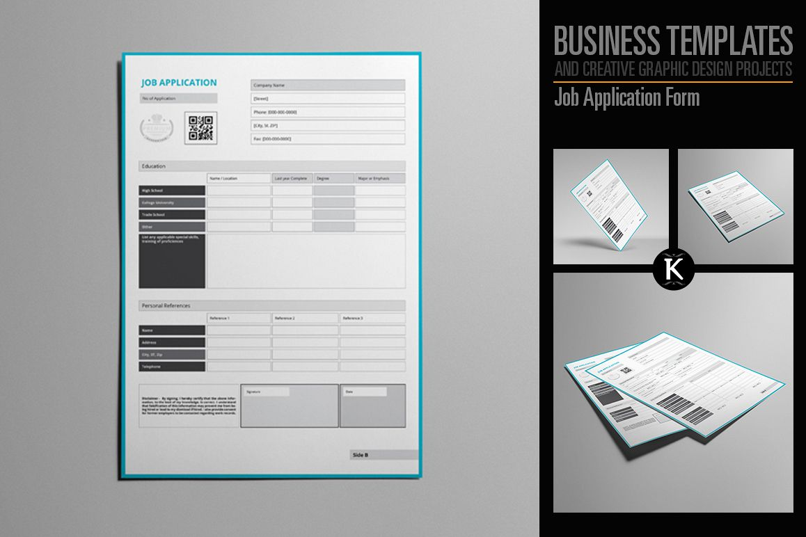 Job Application Form example image 1