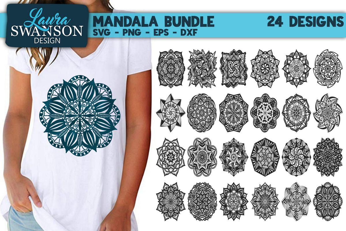 Mandala Bundle SVG, PNG, EPS, DXF example image 1