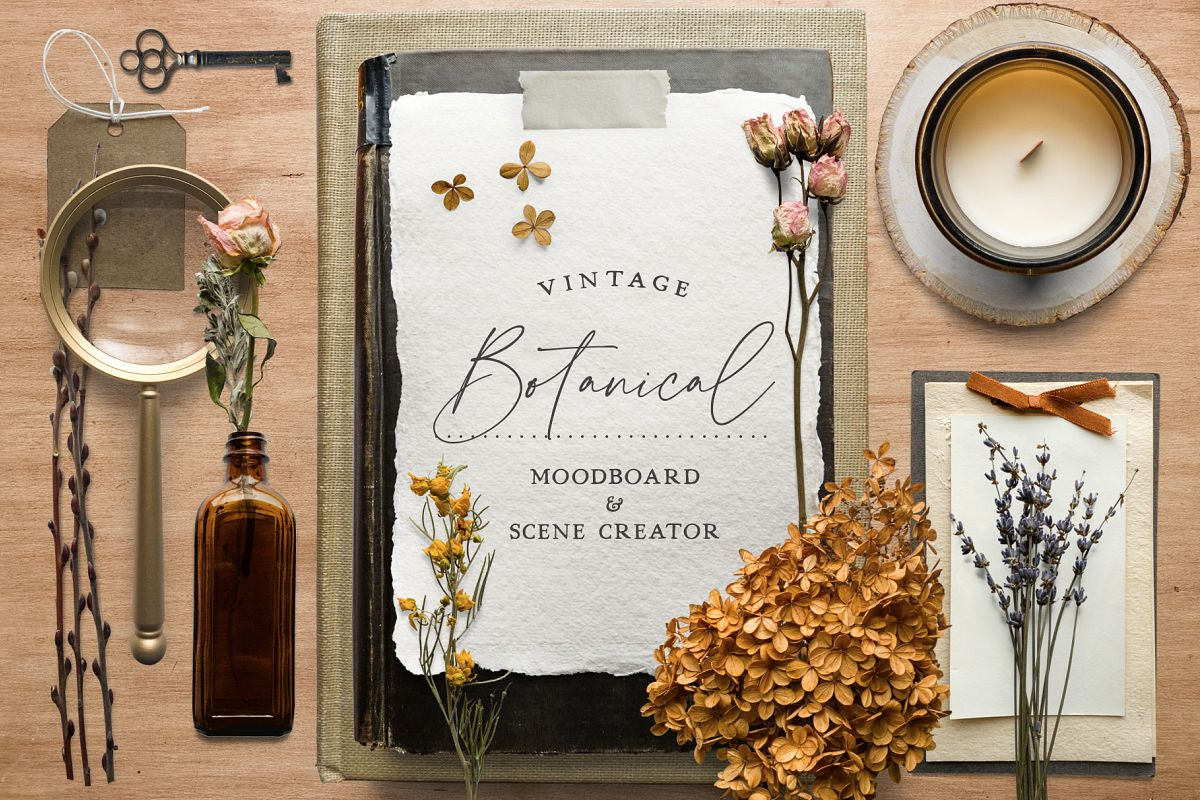 Botanical Moodboard Scene Creator example image 1