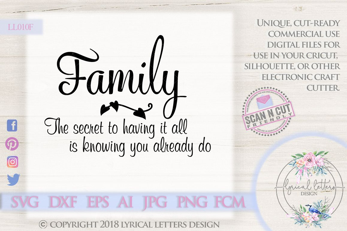 Family Secret Quote SVG DXF FCM LL010F example image 1