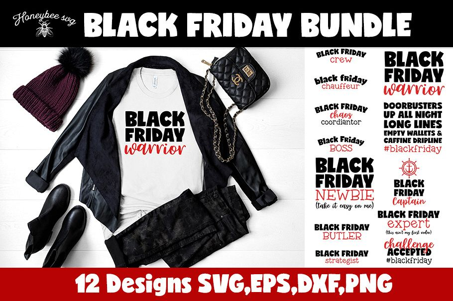 Black Friday Bundle SVG Cut files example image 1