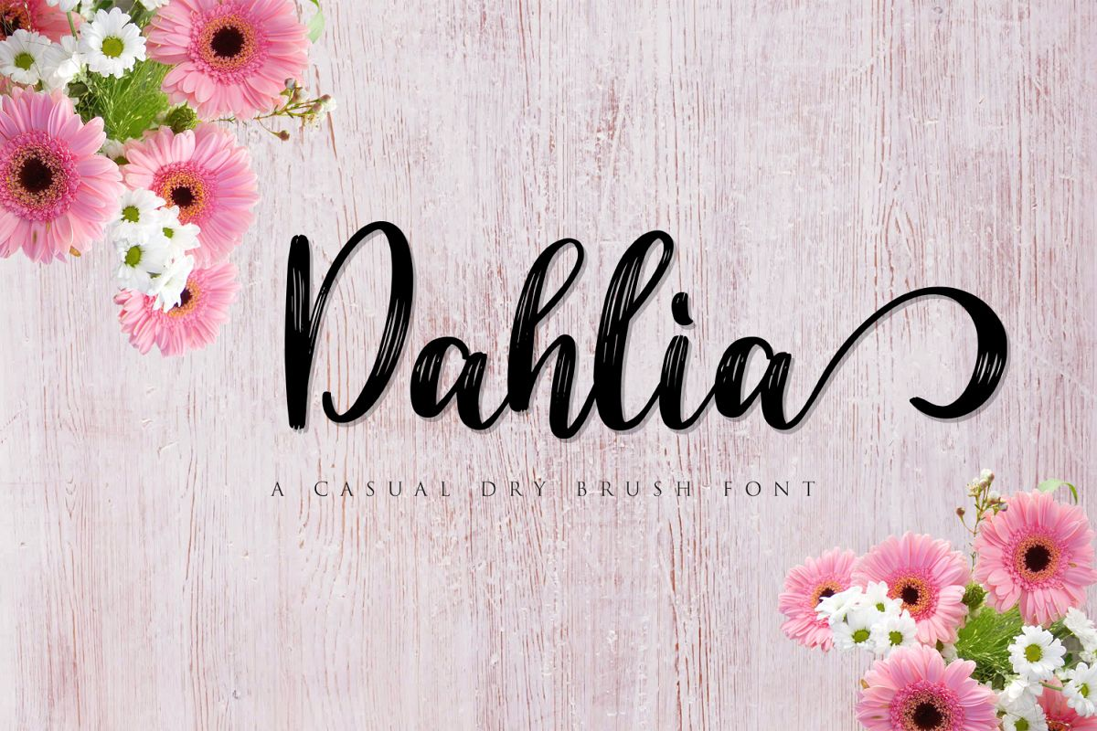 Dahlia Font example image 1