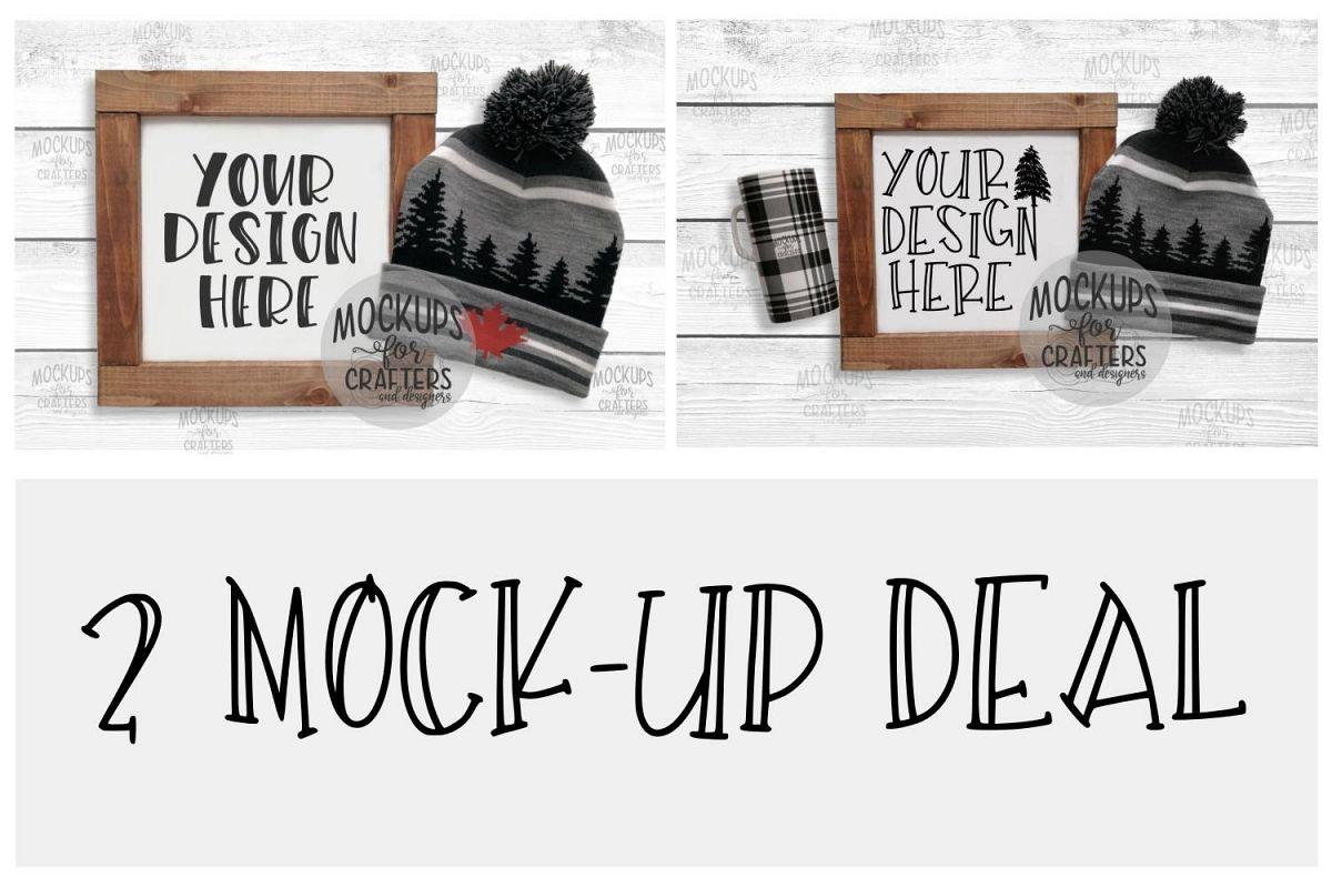 Wood Sign Mock-Ups - 2 MOCK-UP DEAL example image 1