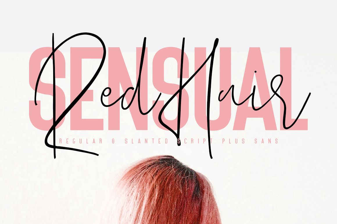 Red Hair Sensual - Free Sans Serif example image 1