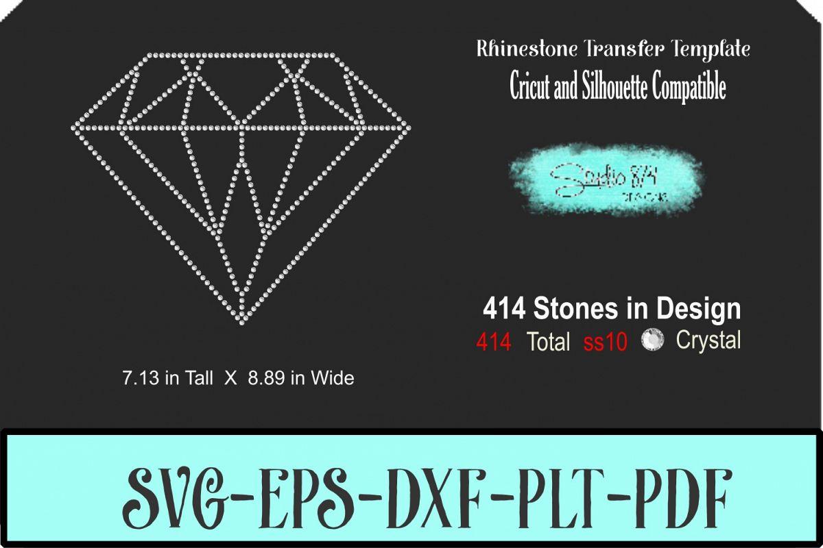 Diamond Rhinestone SVG Template - 9 Inch R1 example image 1