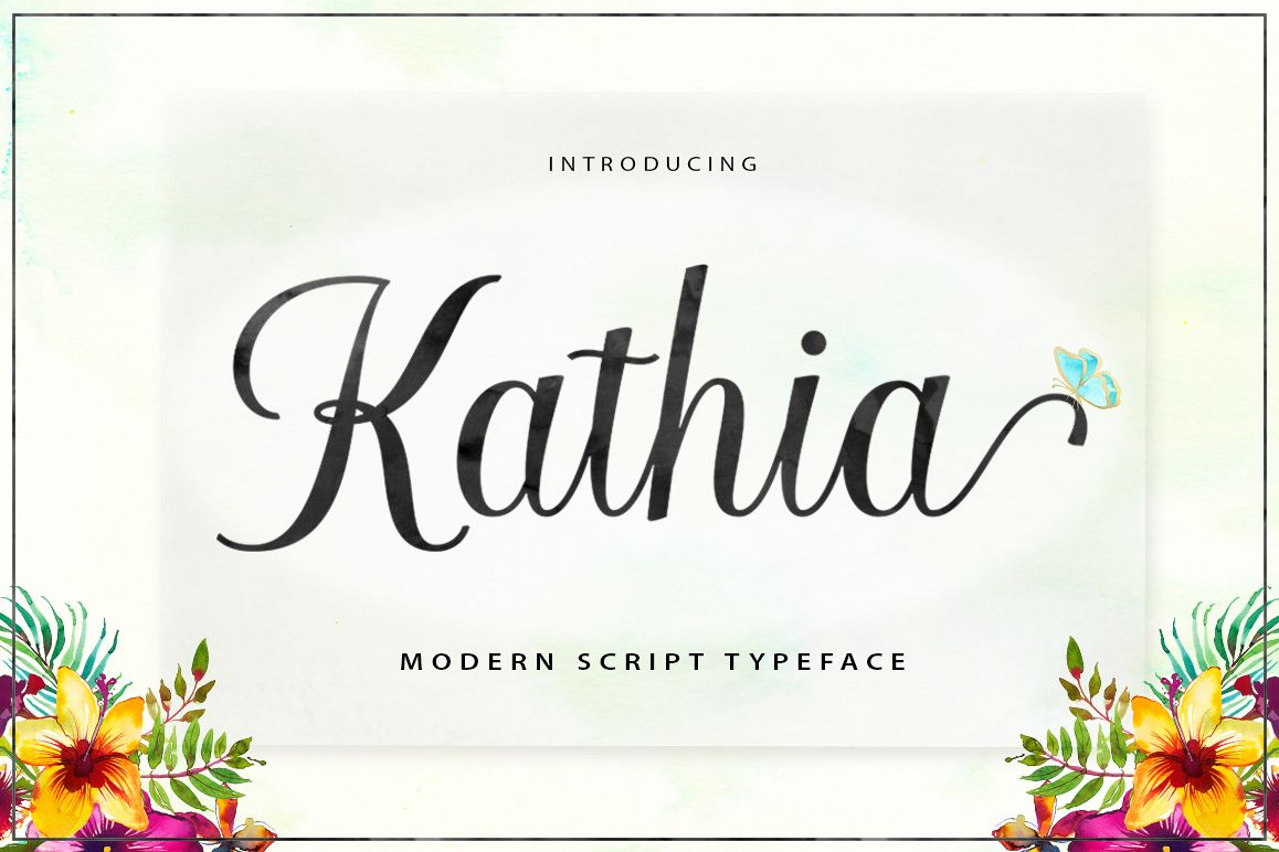 Kathia Script example image 1