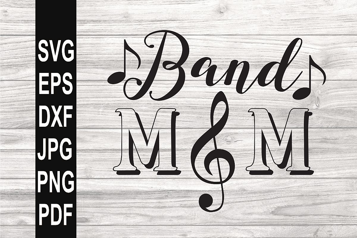 Band Mom SVG | Band Mom Clef SVG example image 1