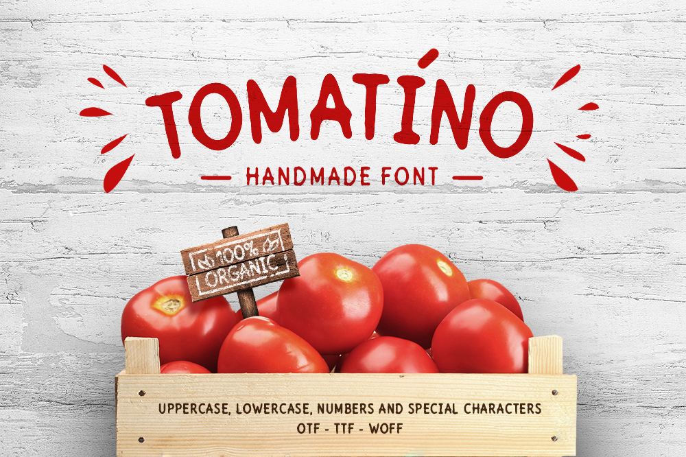 Tomatino - Handmade Font example image 1