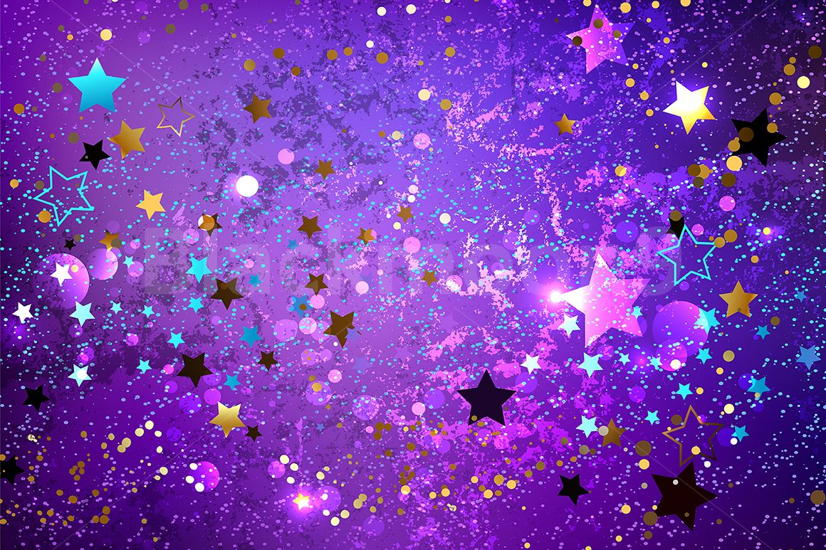 Purple Background with Stars example image 1