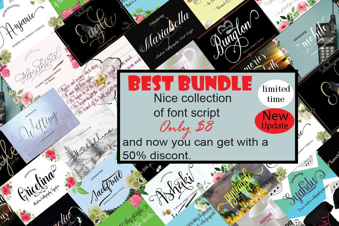 Best Bundle nice collection of font script example image