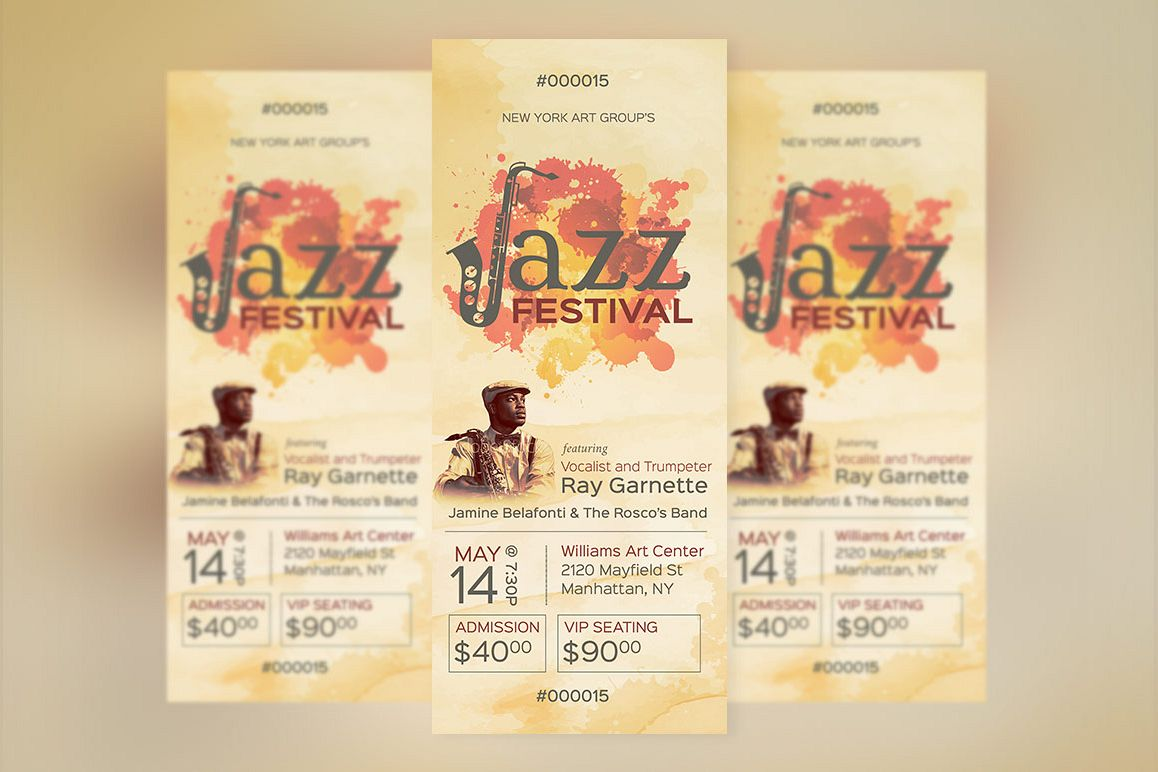 Jazz Event Ticket Template example image 1