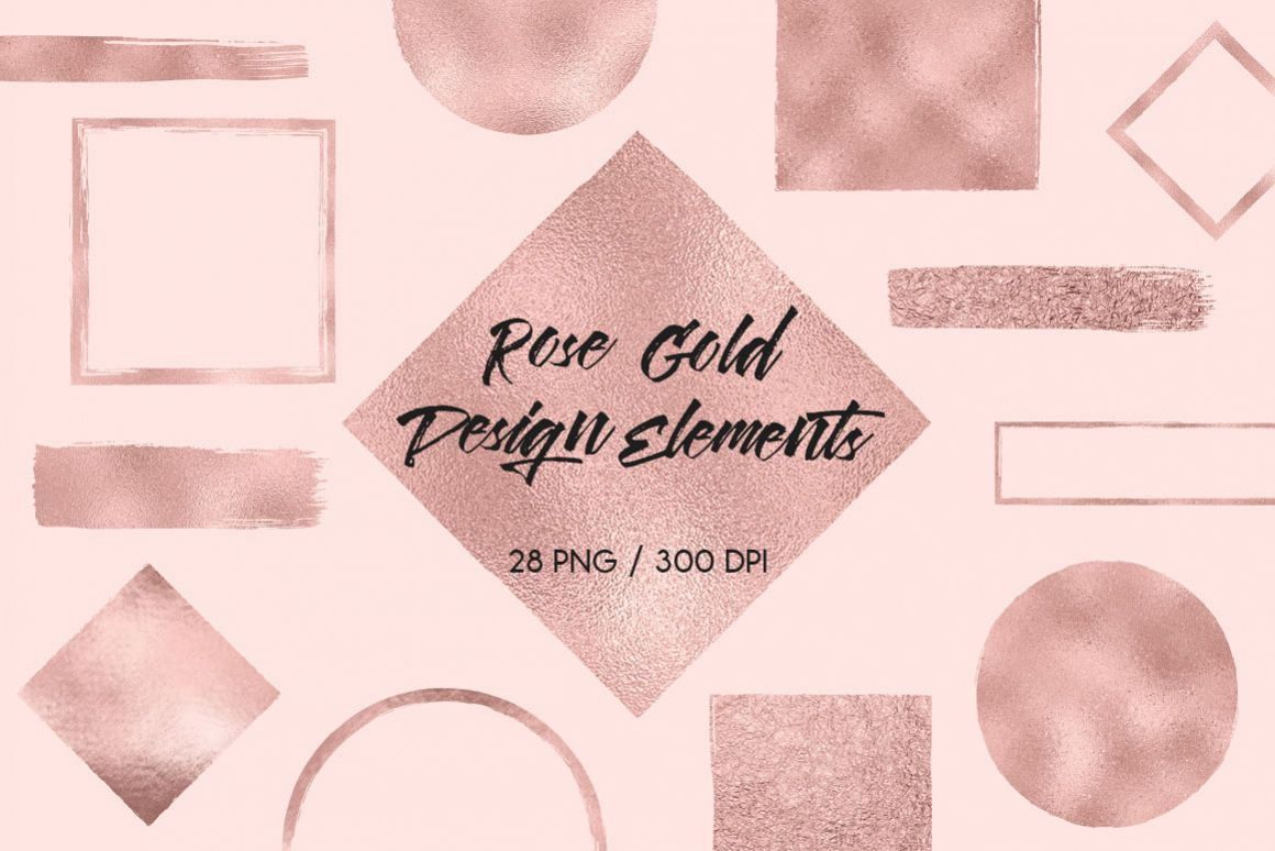 Rose Gold Design Elements example image 1