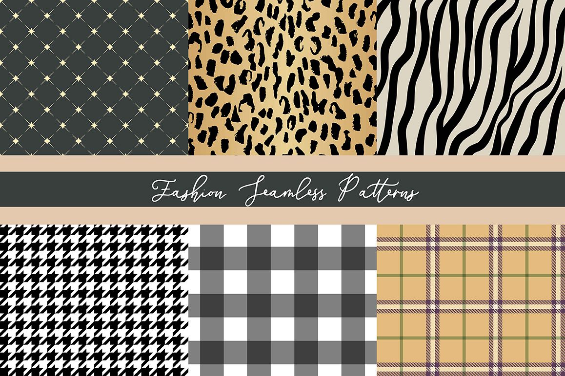 Fashion Seamless Vector Patterns example image 1