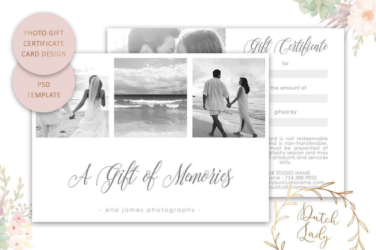 Photo Gift Card Template For Adobe Photoshop 3