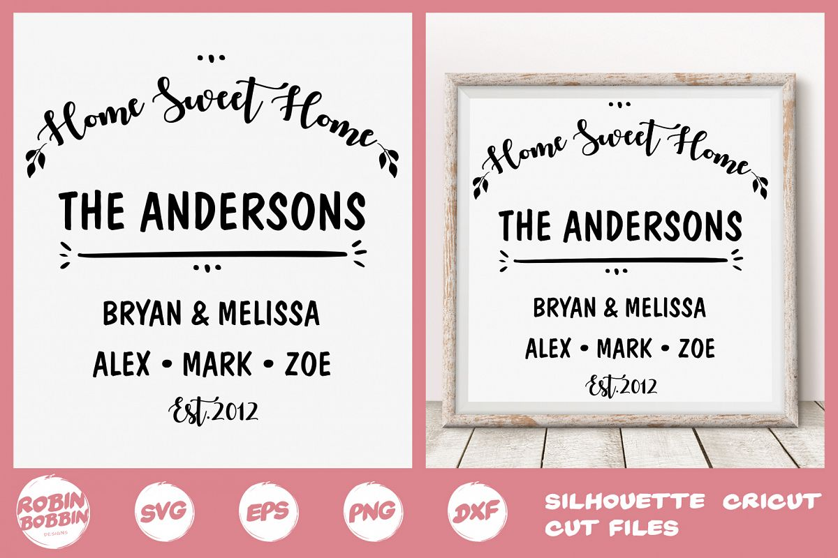 Family SVG, Newlyweds SVG, Family Tree svg, Home Sweet Home example image 1
