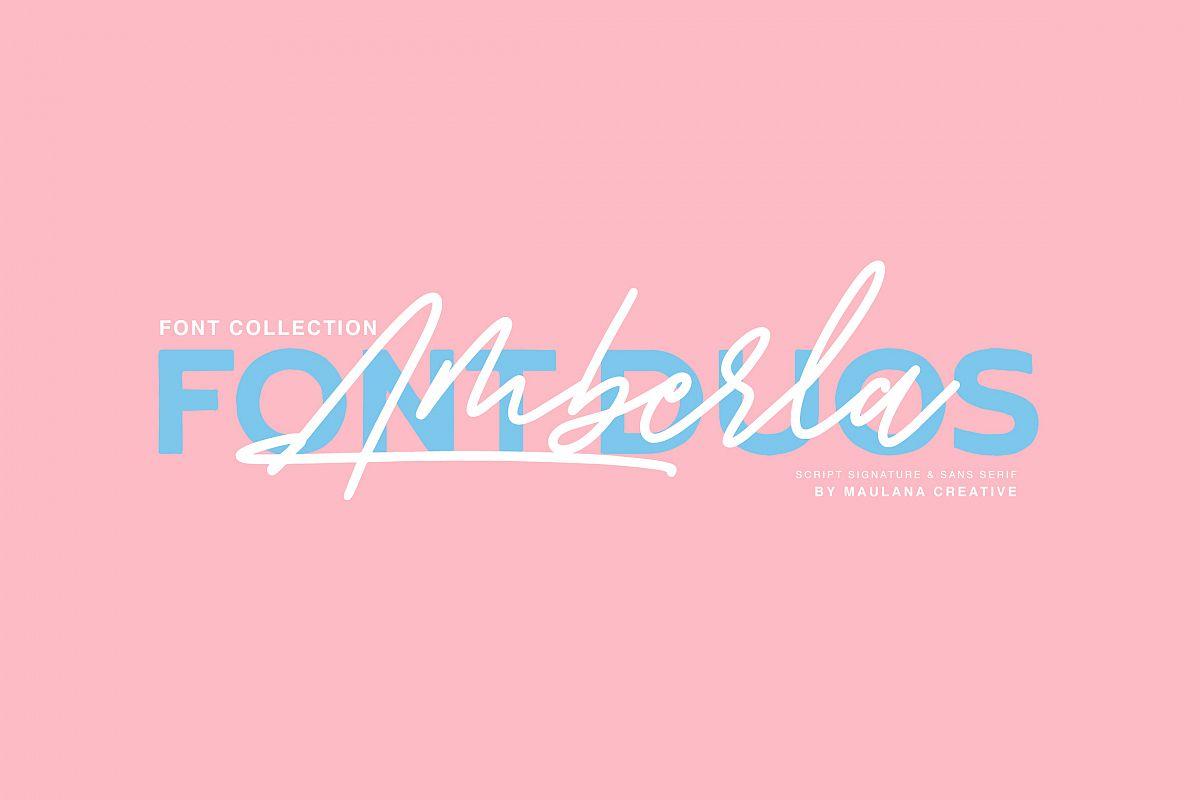 Amberla Script Sans Font example image 1