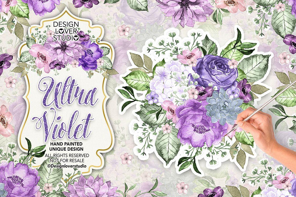 Ultra Violet watercolor design example image 1