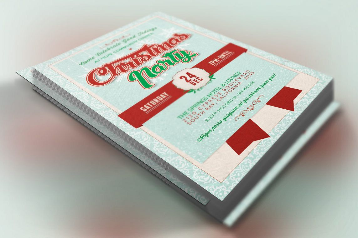Church Christmas Party Flyer Template example image 1