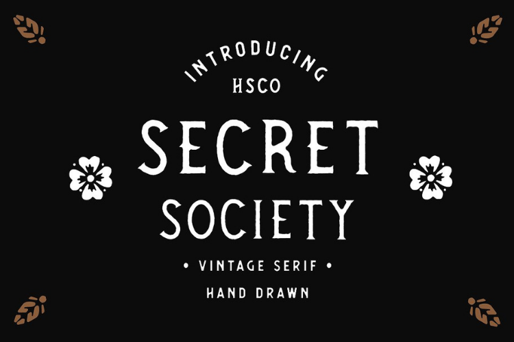 SECRET SOCIETY - A Vintage Serif example image 1