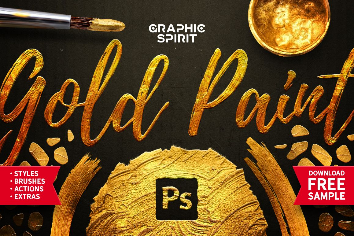 Gold Paint Effect For Photoshop example image 1