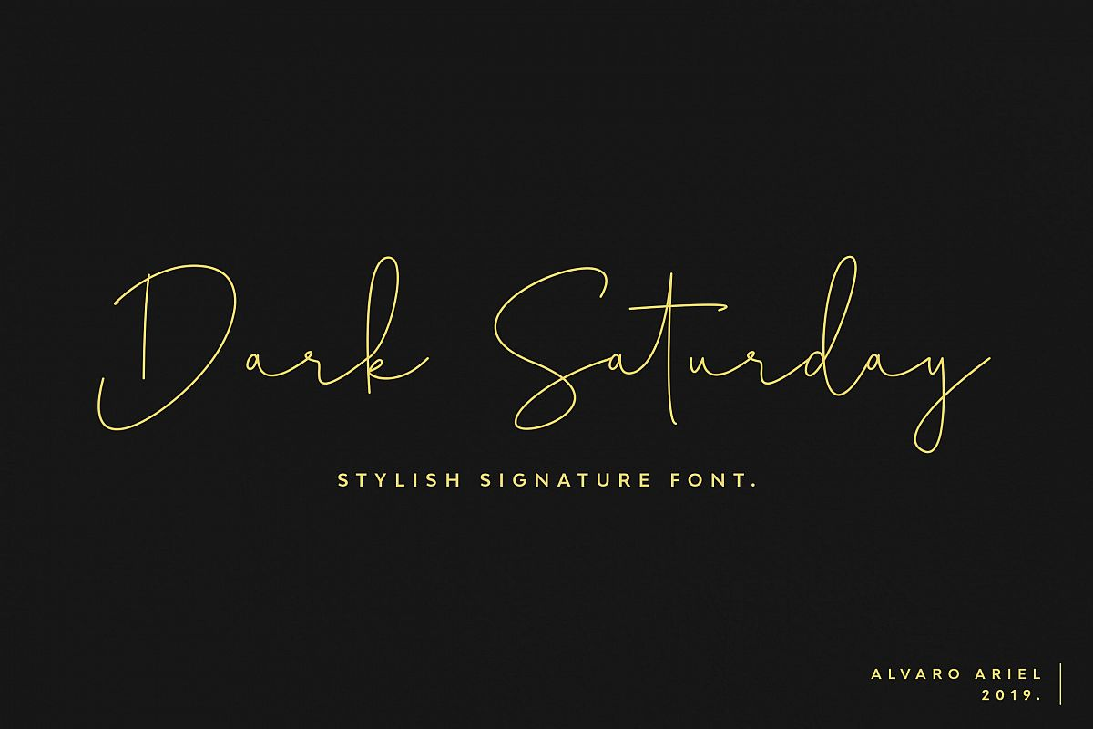 Dark Saturday | Stylish Signature Font example image 1